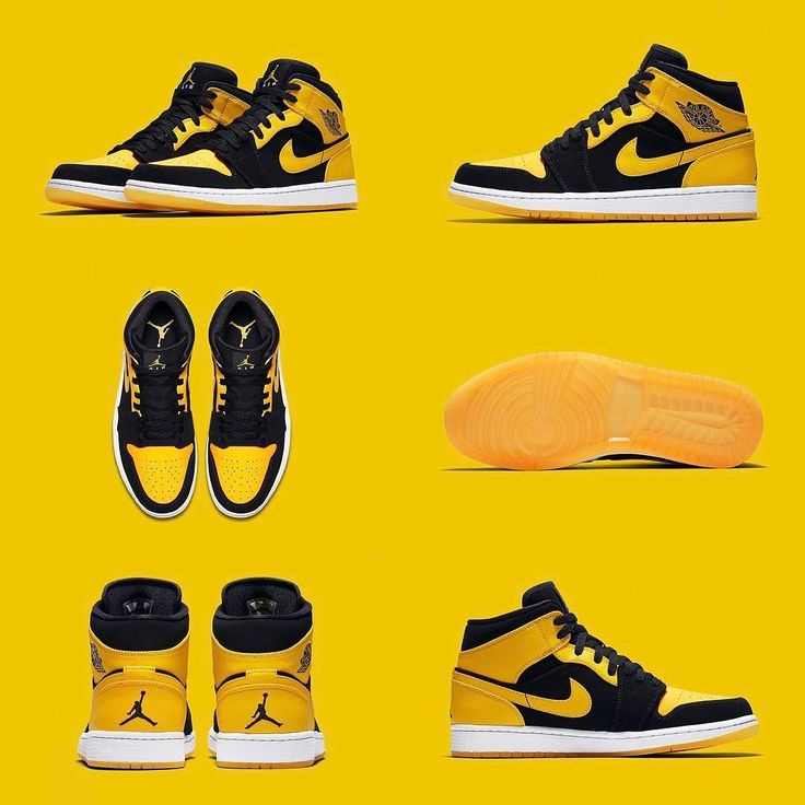 """NEW ARRIVALS: Jordan Brand has plans to bring back one half of the beloved """"Old Love New Love"""" Pack which released 10 years ago featuring to Air Jordan 1 Mids.  These black & yellow AJ1s originally released in 2007 alongside a """"Black Toe"""" Air Jordan 1 Mid and we expect them to be well received by those who had the original """"Old Love New Love"""" Pack and by those who missed out 10 years ago. _ SHOP: kickbackzny.com"""