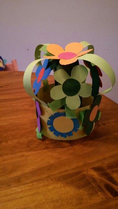 Verjaardags muts bloemen