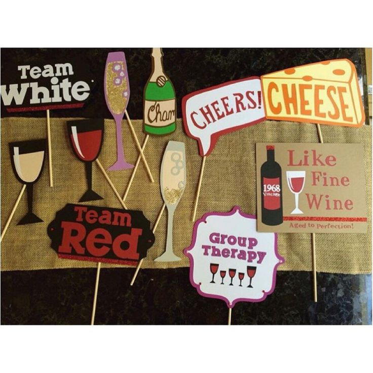 Wine party themed birthday photo booth props by SunshineWithJess on Etsy https://www.etsy.com/listing/241903671/wine-party-themed-birthday-photo-booth
