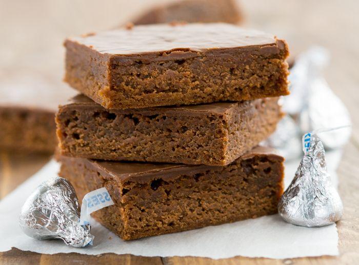 Hersheys-Kiss-Brownies | Hershey Kiss Brownies | Chocolate Brownies | Chocolate Frosting | Chocolate Icing