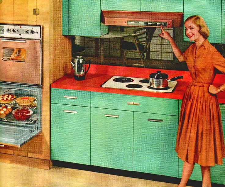 Better Homes And Gardens, 1959 Look How Clean Her Kitchen Is! Notice All  The Food Sheu0027s Baking ALL AT ONCE! | Vintage Ads U0026 Products | Pinterest |  Vintage ...