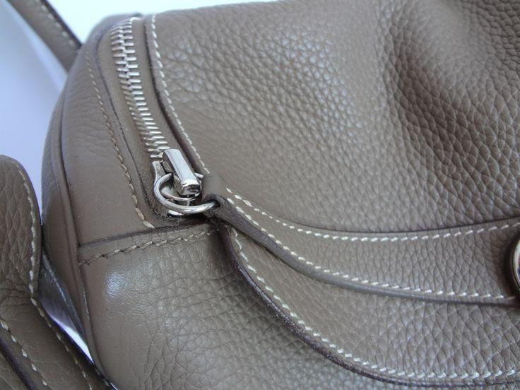 hermes satchel bag - Hermes Lindy Brown Cowskin Leather Handbags Silver Hardware ...