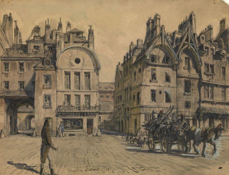 Alexandre Benois (Russian, 1870-1960), Set design for Abel Gance's film