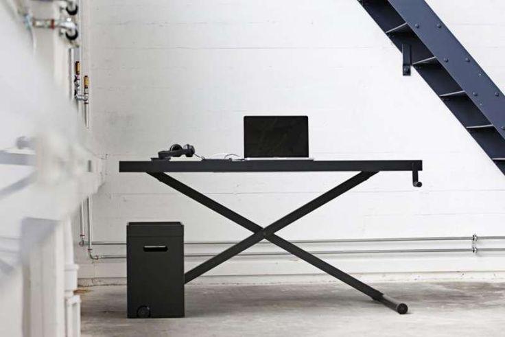 """X"" Table Height Adjustable Desk. http://www.somercourt.co.uk/danish-office-furniture/x-table-height-adjustable-desk"