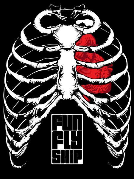 Camiseta Meu Coração e Meus Ossos – Funflyship.com