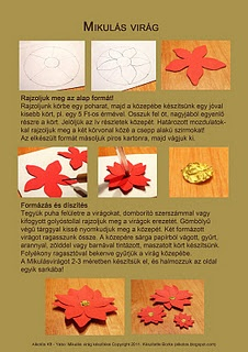 Making of poinsettia paper flower by Borka