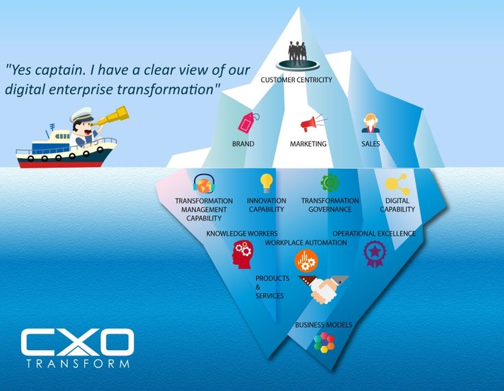 Digital Business Transformation Iceberg | [BIZ] Change ...