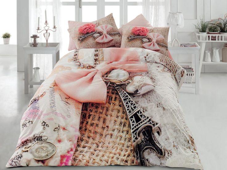 100% CottonParis Eiffel Tower Theme Themed Perfect Design Full Queen Size Quilt Duvet Cover Set Bedding Linens