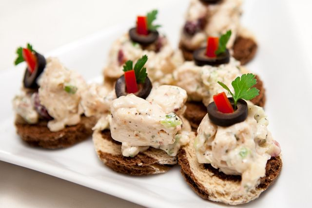 Chicken salad canap s from food storage emergency for Chicken canape ideas