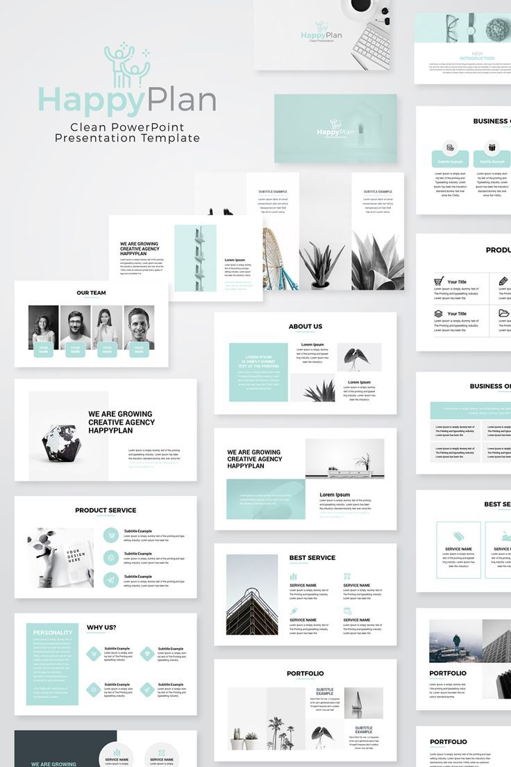 Happyplan Minimal Presentation Powerpoint Template Powerpoint Slide Designs Powerpoint Design Templates Powerpoint Presentation Design