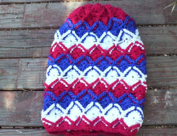 Grand Crochet bavarois multicolore bonnet Slouchy