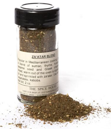 Za'atar blends together thyme, sesame seeds, and -here's the kicker - dried sumac! If you've never had it, sumac has a slightly astringent, lemony flavor. It can be pretty powerful on it's own, which is why we love it balanced with the other flavors in this mix.