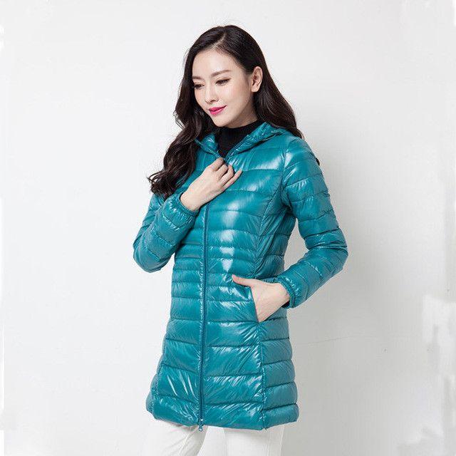 Arbitmatch Women Coat Winter Jacket Women 90% Duck Down Outwear Lady Parka Ultra-light Long Elegant Outwear Fashion Down Parka