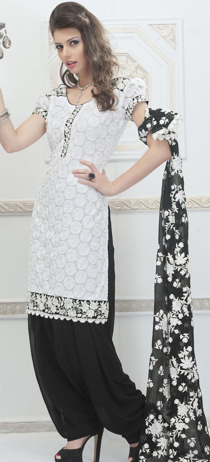 White #Cotton #Patiala #Suit | @ $136.78
