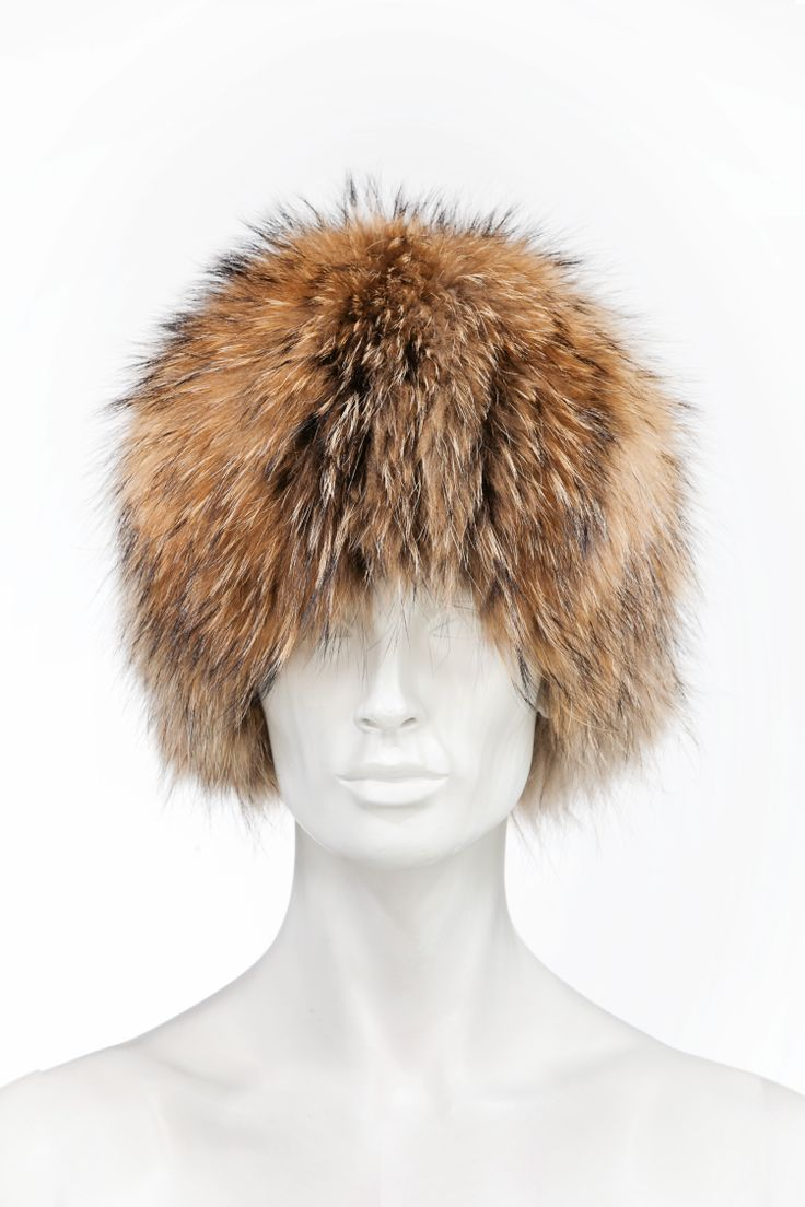 Raccoon hat, also available in black