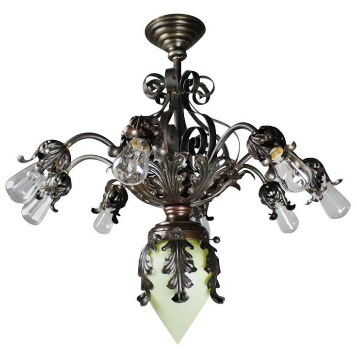Queen anne fancy wrought iron fixture