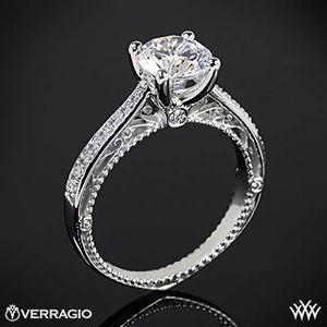 Platinum Verragio Venetian Centro AFN-5047RD-1 Diamond Engagement Ring