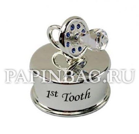Коробочка для первого зубика c кристаллами Swarovski.Изысканный подарок на рождение,Крестины!http://papinbag.ru/index.php?m=5673