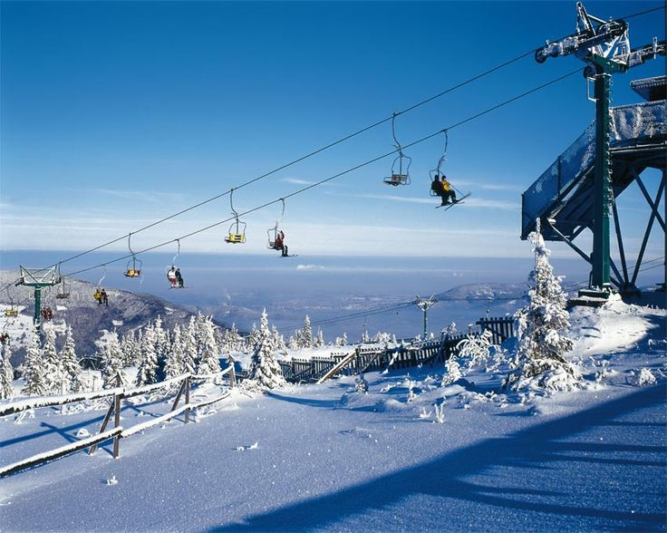 Beskidy Mountains, Poland - Chairlift to Skrzyczne in Beskid Slaski