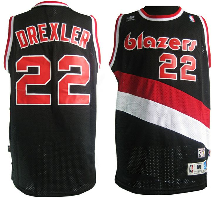 b9e5a7a656f ... nba authentic it almost happened clyde the glyde from portland trail  blazers clyde drexler jersey adidas black ...