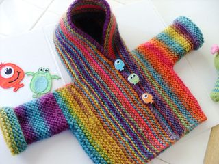 KNITTED Coat/Jacket 'SNUG' by Hinke at Ravelry.com. Cute buttons!