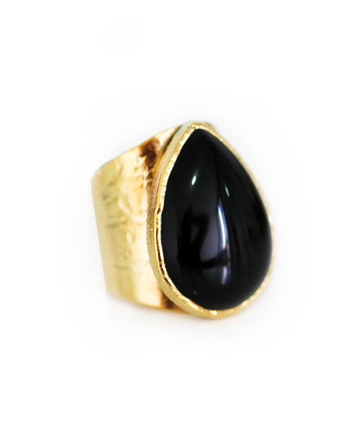 BLACK onyx ring – Kei Jewelry