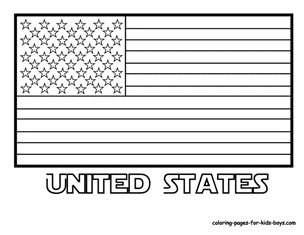 American Flag Coloring Page And Other Flags