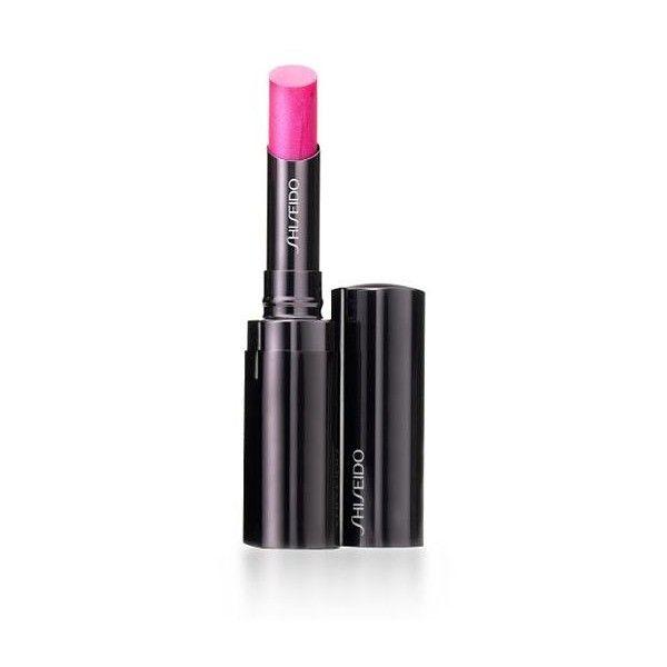 Shiseido Shimmering Rouge ($25) ❤ liked on Polyvore featuring beauty products, makeup, lip makeup, lipstick, brocade rs, moisturizing lipstick, shiseido and shiseido lipstick