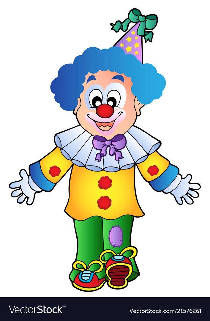 Image Of Cartoon Clown 1 Vector Image On Cute Clown Cartoon Clown