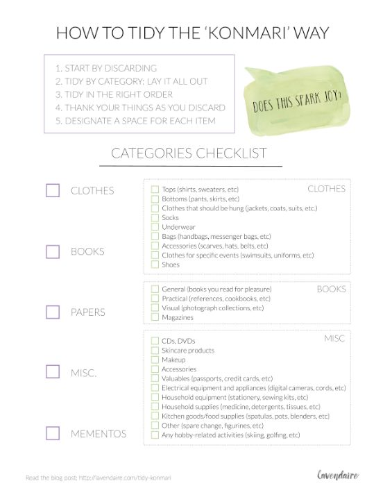 How to Tidy the KonMari Way | KonMari Checklist | Marie Kondo | Tidying Up