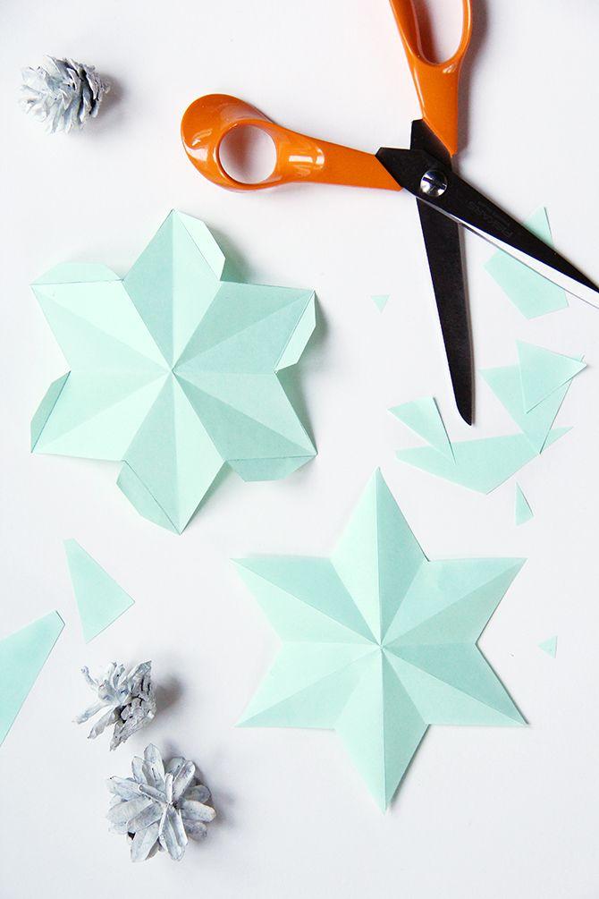 DIY paper star lights