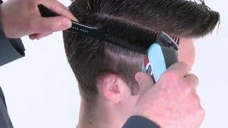 Сайкобилли - видео-урок по базовой мужской стрижке(Смотреть урок целиком: http://ru.myhairdressers.com/hairdressing-training/basics-hair-cutting1301413800/dale-ted-watkins-psychobilly.html#.UbZACtEuzq8 ..., 2013-04-23T07:17:42.000Z)