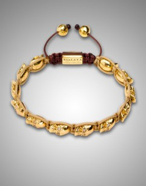 Gold Skull Beaded Bracelet