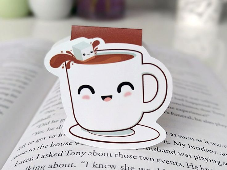 Cute Cup of Coffee Magnetic Bookmark by BeedooTO on Etsy https://www.etsy.com/uk/listing/274911620/cute-cup-of-coffee-magnetic-bookmark More