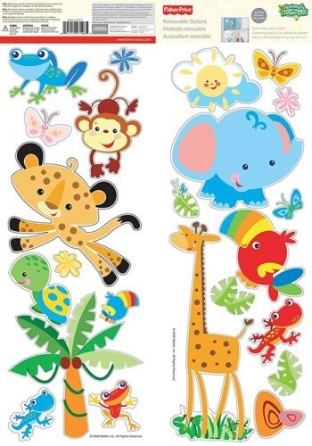 And then decals like this?  @Deborah McDowell  FISHER PRICE RAINFOREST ANIMALS Removable Wall Decals Room Decor Stickers Baby | eBay