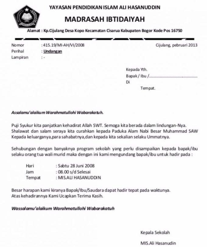 7 Contoh Surat Undangan Rapat Resmi Rt Perusahaan Organisasi Terbaru Lengkap Undangan Surat Sekolah