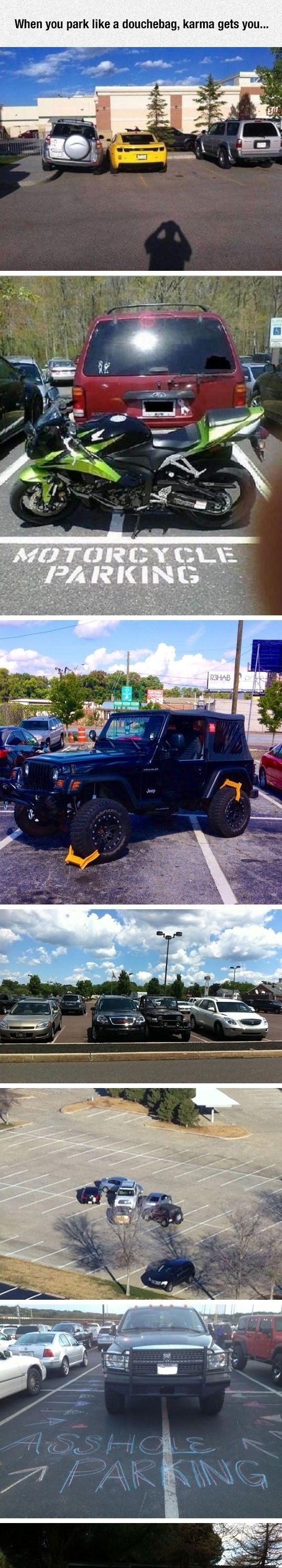 Parking Like A Jerk Is Going To Get You In Trouble#funny #lol #lolzonline
