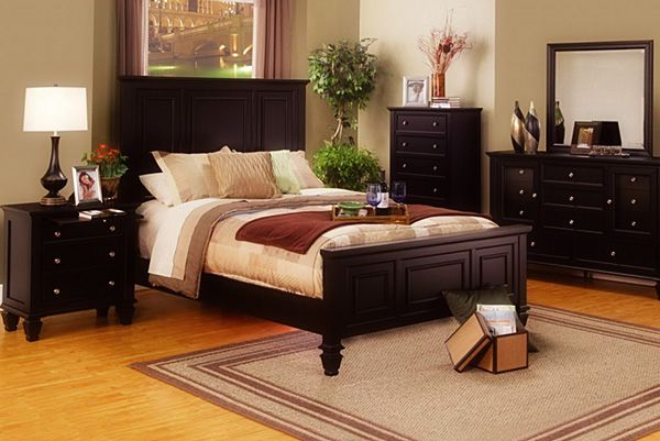 Glenmore Cappuccino Panel Queen Size Bed