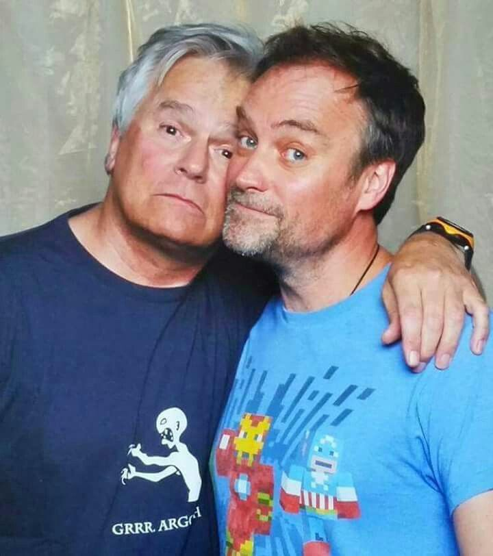 Omg, such fanboys.... Richard Dean Anderson and David Hewlett at OZCC, Sydney 2015. #stargate