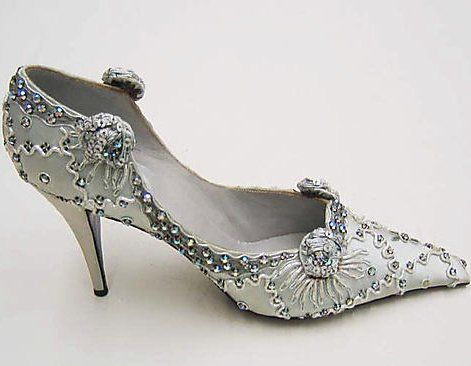 Dior Shoes - 1957 - House of Dior - Design by Roger Vivier - Silk, plastic, glass, metal - via The Metropolitan Museum of Art.
