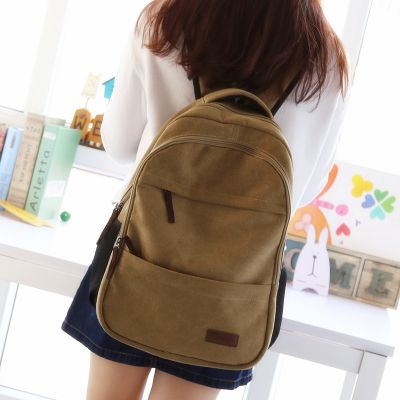 Simple classic design boys girls backpack college school student book bag leisure travel backpack laptop bag