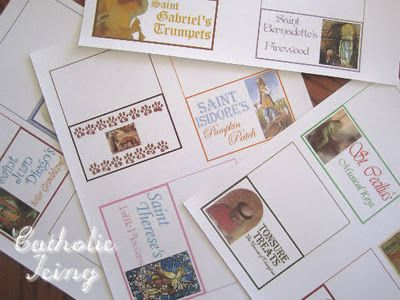 All Saint's Day Food Labels from Catholic Icing