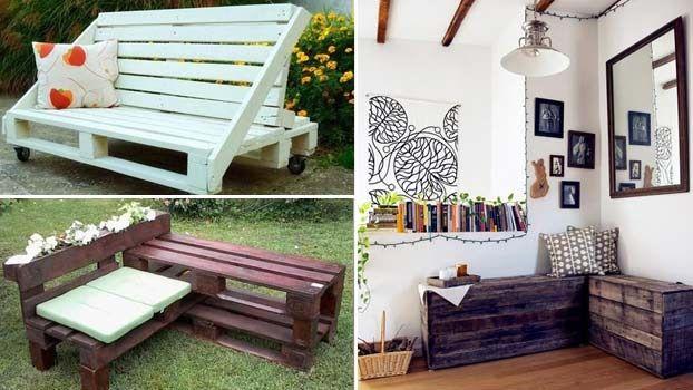 Panchine da giardino economiche in pallet di legno eco for Panchine da giardino ikea