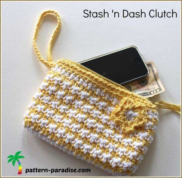 crochet pattern for clutch purse by pattern-paradise.com
