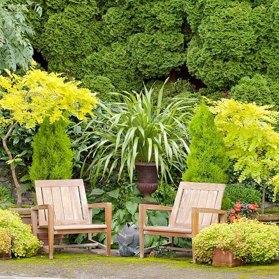 Use a Plant's Texture...In the absence of a change-up of fabrics or hardscape, plants can be a welcome way to add living décor to a patio space. Intermix grasses and foliage-focused plants for variety in both hue and style.