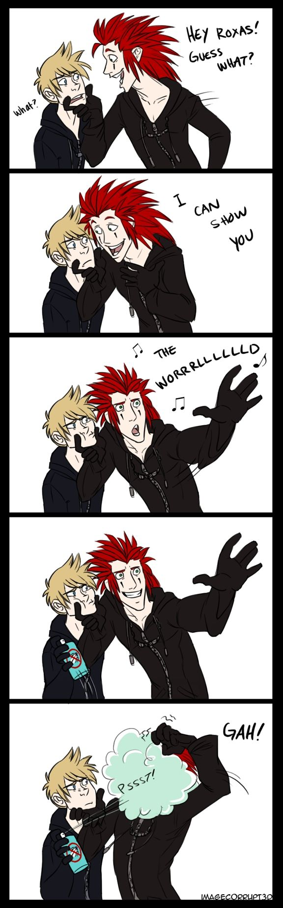 Oh Axel......       Roxas is so funny here! XD