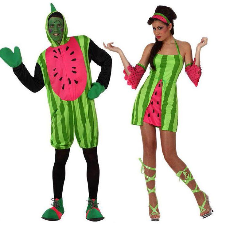 Pareja Disfraces de Sandías #parejas #disfraces #carnaval