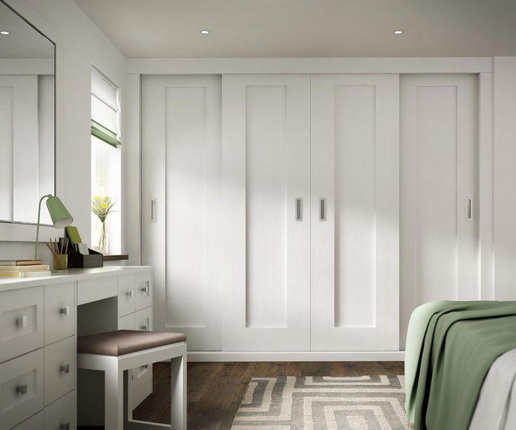 Beautiful White Bedrooms: Internal Single Sliding Doors