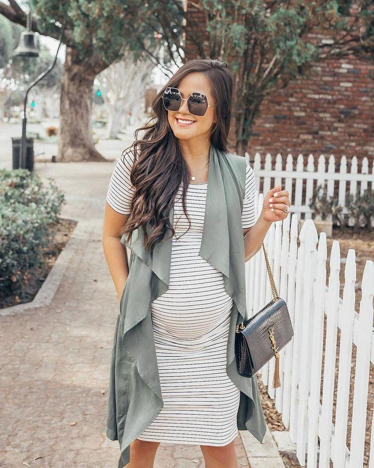 44 belles idées de tenues d'hiver pour femmes enceintes