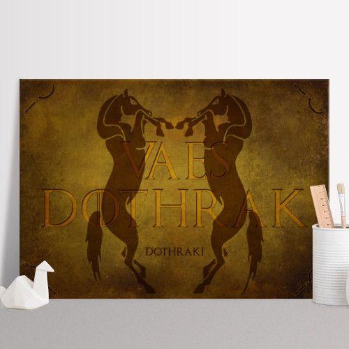 Vaes Dothrak Poster #poster #fantasy #gameofthrones #horses #dothraki #home #decor #homegifts #giftsforhim #got #gifts #tvseriesposter #gameofthronessigil  #gameofthronesposter #giftsforher #displate